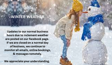 Winter Weather  & Changes To Our Normal Business Hours - How Do We Handle  It?